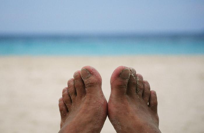 Legs Behind Sea