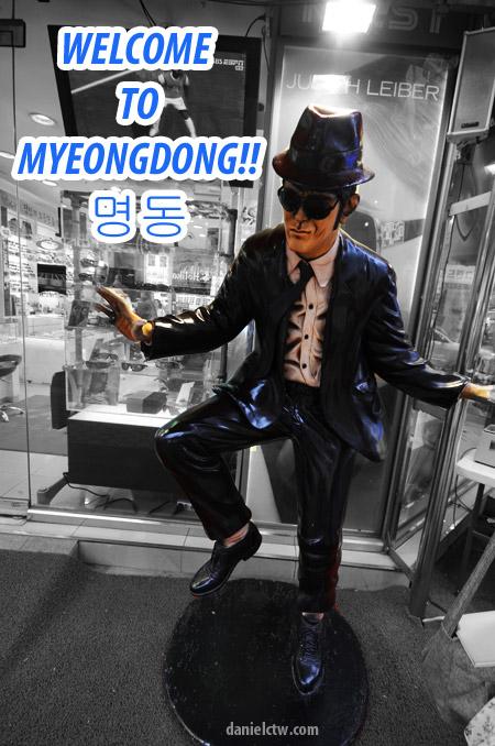 Myeong-dong human statue