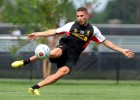 Borini Training for Liverpool Photos