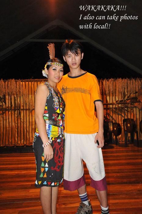 Daniel Chew with Kadazan Girl Photo