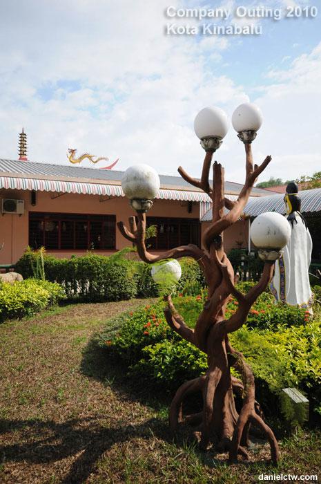 Garden Inside the Temple Kota Kinabalu