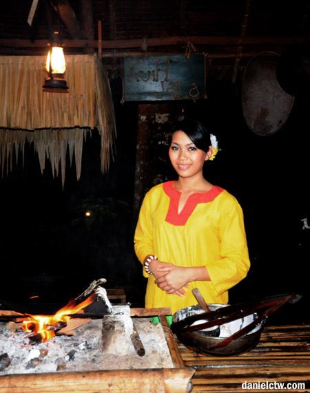 Lovely Kadazan Girl At Tuak Stall