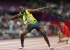 Daniel Chew giving the eye to Usain Bolt
