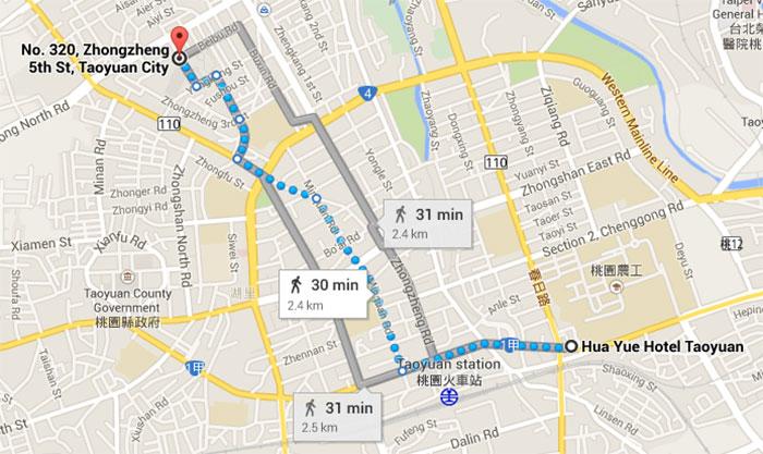 map to taoyuan night market