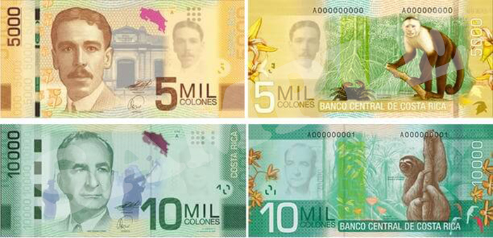 costa rican money