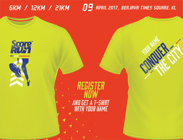 score run 2017 tshirt