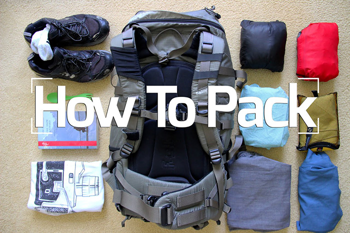 how to pack for an adventure
